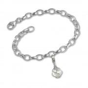 SilberDream 925 Charms Kugel Silber Armband Anhänger Set FCA104