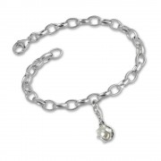 SilberDream 925 Charms Perle Silber Armband Anhänger Set FCA111