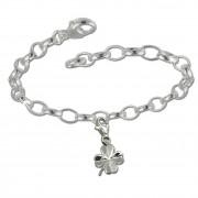 SilberDream 925 Charm Set Glücksklee Silber Armband Anhänger FCA131