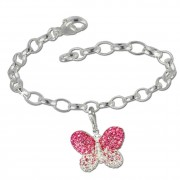 SilberDream Charm Set Schmetterling Swarovski Elements Armband FCA133