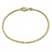 GoldDream Armband Anker diamantiert 333 Gold 18,5cm 8 Karat GDA0028Y