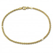 SilberDream Armband Kordel 333 Gold 18,5cm 8 Karat GDA0079Y