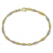 SilberDream Armband Singapur gedreht 333 Gold 18,5cm 8 Karat GDA0138T