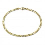SilberDream Armband Figaro diamantiert 333 Gold 19cm 8 Karat GDA0169Y
