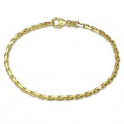 GoldDream Armband Anker diamantiert 333 Gold 18,5cm 8 Karat GDA0228Y