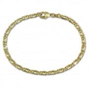 SilberDream Armband Tigerauge hohl 333 Gold 19cm 8 Karat GDA0339Y