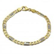 SilberDream Armband Fantasie bicolor 333 Gold 19cm 8 Karat GDA0379T