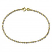 SilberDream Armband Kordel bicolor 333 Gold 19cm 8 Karat GDA0529T