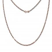 GoldDream Collier Kette Zopf Rose Gold Damen 45cm 8 Karat GDK00245T