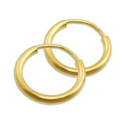GoldDream Creole Simply 13mm Ohrring 333 Gelbgold Echtschmuck GDO00013Y