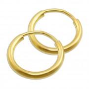 GoldDream Creole Simply 15mm Ohrring 333 Gelbgold Echtschmuck GDO00015Y