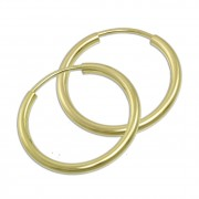 SilberDream Creole Simply 20mm Ohrring 333 Gelbgold Echtschmuck GDO0002Y