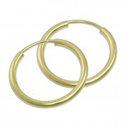 GoldDream Creole Simply 30mm Ohrring 333 Gelbgold Echtschmuck GDO0003Y