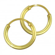 SilberDream Gold Creole 11mm Ohrring 333er Gelbgold Echtschmuck GDO0020Y