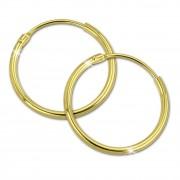 SilberDream Gold Creole 20mm Ohrring 333er Gelbgold Echtschmuck GDO0032Y