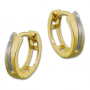 SilberDream Creole Bicolor 333 Gold Ohrring Echtschmuck GDO5111T