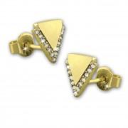 SilberDream Ohrstecker Dreieck Zirkonia Ohrring 333 Gold Echtschmuck GDO5208Y