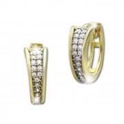 SilberDream Creole Elegance Zirkonia weiß Ohrring 333 Gold Echtschmuck GDO529WY