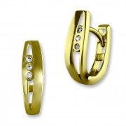 SilberDream Creole geteiltes Rechteck Zirkonia Ohrring 333er Gold GDO537WY