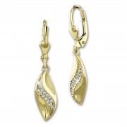SilberDream Ohrhänger Wave Zirkonia Ohrring 333 Gold Echtschmuck GDO550WY