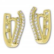 GoldDream Creole Double oval Zirkonia Ohrring 333 Gold Echtschmuck GDO5624Y