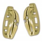 GoldDream Creole Classic oval Zirkonia Ohrring 333 Gold Echtschmuck GDO5627Y