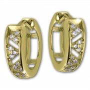 GoldDream Creole Dreiecke Zirkonia Ohrring 333 Gold Echtschmuck GDO5629Y