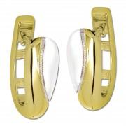 GoldDream Creole Elegance zweifarbig Ohrring 333 Gold Echtschmuck GDO5635T
