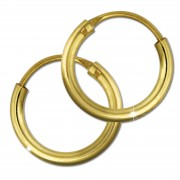 GoldDream Damen Creolen Ohrring 13mm Gelbgold 8 Karat GDOB00013K