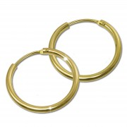 GoldDream Damen Creolen Ohrring 15mm Gelbgold 8 Karat GDOB00015K