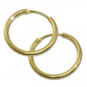 GoldDream Damen Creolen Ohrring 17,5mm Gelbgold 8 Karat GDOB00018K