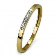 SilberDream Gold Ring Zirkonia weiß Gr.54 333er Gelbgold GDR502Y54