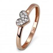 SilberDream Gold Ring Herz Zirkonia weiß Gr.54 333er Rosegold GDR503E54