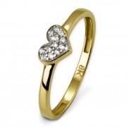 SilberDream Gold Ring Herz Zirkonia weiß Gr.58 333er Gelbgold GDR503Y58