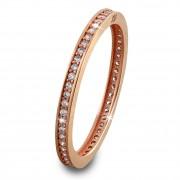 GoldDream Gold Ring Zirkonia weiß Gr.58 333er Rosegold GDR504E58