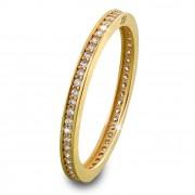SilberDream Gold Ring Zirkonia weiß Gr.56 333er Gelbgold GDR504Y56