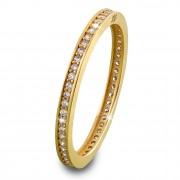 SilberDream Gold Ring Zirkonia weiß Gr.58 333er Gelbgold GDR504Y58