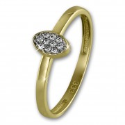 GoldDream Gold Ring Oval Zirkonia weiß Gr.60 333er Gelbgold GDR507Y60