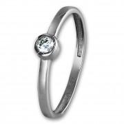 SilberDream Gold Ring Stein Zirkonia weiß Gr.58 333er Weißgold GDR509J58