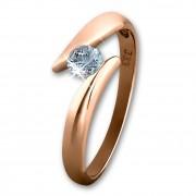 SilberDream Gold Ring Big Zirkonia weiß Gr.58 333er Rosegold GDR512E58