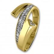 GoldDream Gold Ring Glamour Zirkonia weiß Gr.56 333er Gelbgold GDR513Y56