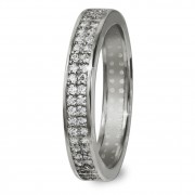 GoldDream Gold Ring Gr.56 Zirkonia weiß 333er Weißgold GDR514J56