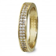 GoldDream Gold Ring Gr.54 Zirkonia weiß 333er Gelbgold GDR514Y54