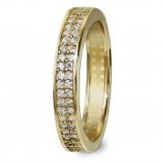 GoldDream Gold Ring Gr.56 Zirkonia weiß 333er Gelbgold GDR514Y56