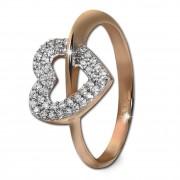 GoldDream Gold Ring Gr.58 Herz Zirkonia 333er Rosegold GDR521E58