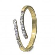 GoldDream Gold Ring Gr.60 Line Zirkonia weiß 333er Gelbgold GDR524Y60