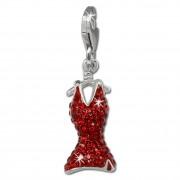 SilberDream Glitzer Charm Kleid rot Zirkonia Kristalle GSC520R