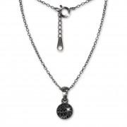 SilberDream Kette Circle Zirkonia schwarz 925er Silber 42-45cm Halskette GSK403S