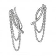 SilberDream Ear Cuff Kettchen Zirkonia Ohrringe Ohrklemme 925 Silber GSO412W