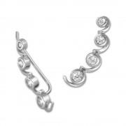 SilberDream Ear Cuff Welle Zirkonia Ohrringe Ohrklemme 925 Silber GSO417W